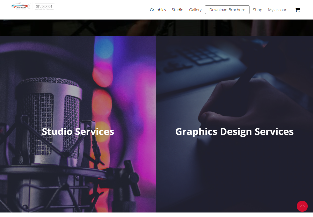 A Website to showcase Studio and Graphics Design Services along with an e-Commerce platform for selling digital albums.