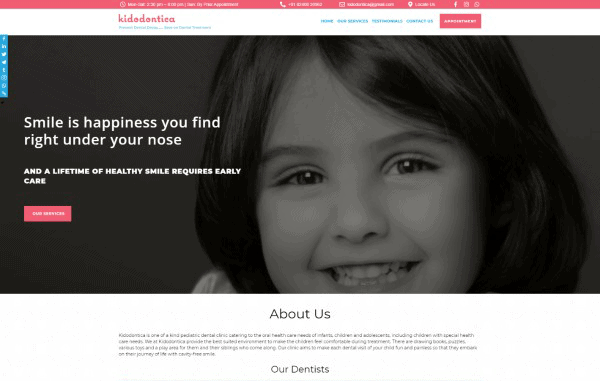 A Website for Online Booking Management and showcasing of Dental Services